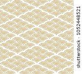 wave japanese pattern. gold... | Shutterstock .eps vector #1052448521