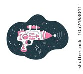 space illustration of cute... | Shutterstock .eps vector #1052463041
