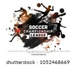 soccer championship league with ... | Shutterstock .eps vector #1052468669