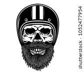illustration of bearded skull... | Shutterstock .eps vector #1052477954
