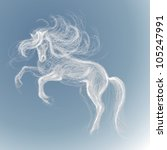 White Horse   Vector Sketch Of...