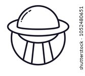 space alien ufo interstellar...   Shutterstock .eps vector #1052480651