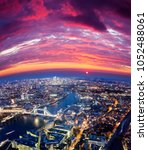 london city sunset  mystic... | Shutterstock . vector #1052488061