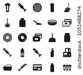 flat vector icon set   scoop... | Shutterstock .eps vector #1052488274
