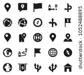 flat vector icon set   compass... | Shutterstock .eps vector #1052488895