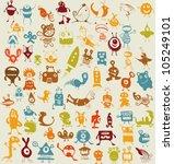 doodle set | Shutterstock .eps vector #105249101