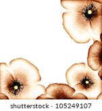 Grunge Poppy  Floral Natural...