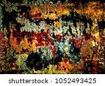abstract retro grunge... | Shutterstock . vector #1052493425