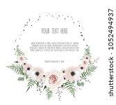 spring flowers bouquet for...   Shutterstock .eps vector #1052494937