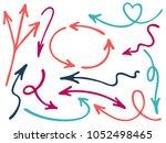 hand drawn diagram arrow icons... | Shutterstock .eps vector #1052498465