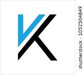letter k logo icon design... | Shutterstock .eps vector #1052504849