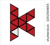 letter k logo icon design... | Shutterstock .eps vector #1052504855
