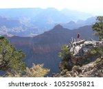 a tourist appreciating early...   Shutterstock . vector #1052505821