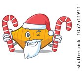santa with candy conchiglie... | Shutterstock .eps vector #1052511911