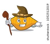 witch conchiglie pasta mascot... | Shutterstock .eps vector #1052512019