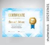 gift certificate design. modern ... | Shutterstock .eps vector #1052515631