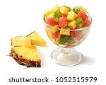 glass bowl of healthy citrus...   Shutterstock . vector #1052515979