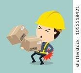 transportation work  vector... | Shutterstock .eps vector #1052518421