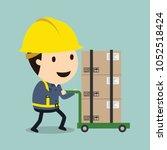 transportation work  vector... | Shutterstock .eps vector #1052518424