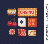 board game pixel art 80s style... | Shutterstock .eps vector #1052526941