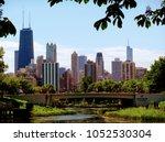 chicago skyline seen from... | Shutterstock . vector #1052530304