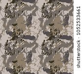 seamless fashion dusty beige ... | Shutterstock .eps vector #1052533661