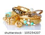 beautiful golden bracelets and... | Shutterstock . vector #105254207