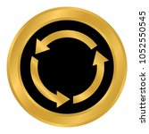 arrows circle button on white... | Shutterstock .eps vector #1052550545