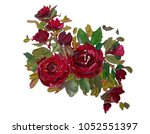 Oil Painting Roses Flowers And...