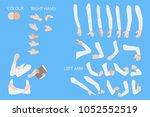 set of human hands with... | Shutterstock .eps vector #1052552519