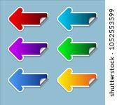 the arrow set on the left... | Shutterstock .eps vector #1052553599