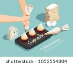 confectionery chef isometric... | Shutterstock .eps vector #1052554304