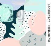 abstract artwork  vector... | Shutterstock .eps vector #1052555099