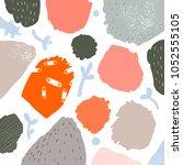 abstract artwork  vector... | Shutterstock .eps vector #1052555105