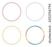 gymnastic hoops. set of vector... | Shutterstock .eps vector #1052556794