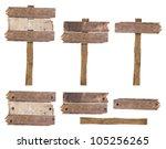 set of vintage road sign... | Shutterstock . vector #105256265
