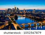 frankfurt am main skyline | Shutterstock . vector #1052567879