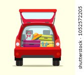 suitcase  bags and other... | Shutterstock .eps vector #1052572205
