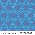 decorative seamless geometric... | Shutterstock .eps vector #1052580809
