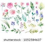 different watercolor stuff   Shutterstock . vector #1052584637