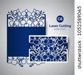 laser cut wedding invitation.... | Shutterstock . vector #1052589065