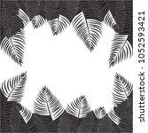 frame of palm leaves. the... | Shutterstock .eps vector #1052593421