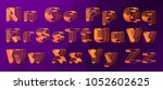 vector set  alphabet orthogonal ... | Shutterstock .eps vector #1052602625