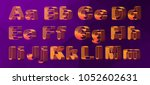 vector set  alphabet orthogonal ... | Shutterstock .eps vector #1052602631