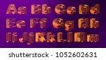 vector set  alphabet orthogonal ... | Shutterstock .eps vector #1052602631