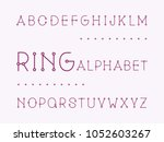 ring regular font. vector... | Shutterstock .eps vector #1052603267