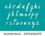 vector hand drawn white script... | Shutterstock .eps vector #1052606435