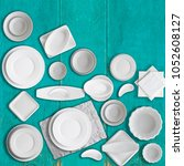 White Porcelain Dishes Set Old - Fine Art prints
