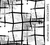 grunge halftone black and white ... | Shutterstock .eps vector #1052610491
