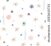 seamless floral pattern .... | Shutterstock .eps vector #1052610731